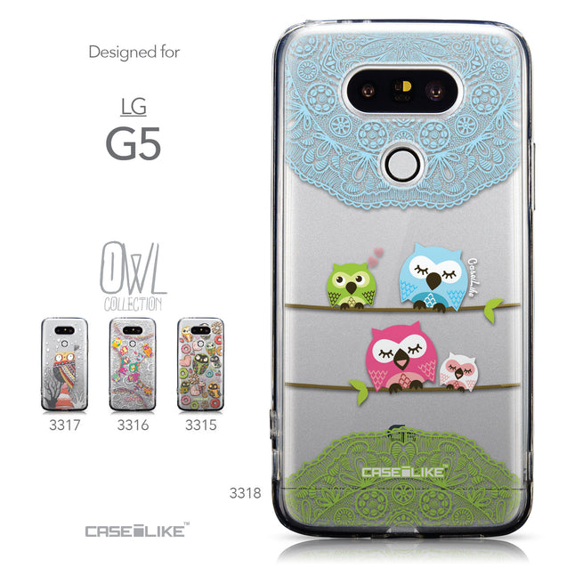 Collection - CASEiLIKE LG G5 back cover Owl Graphic Design 3318