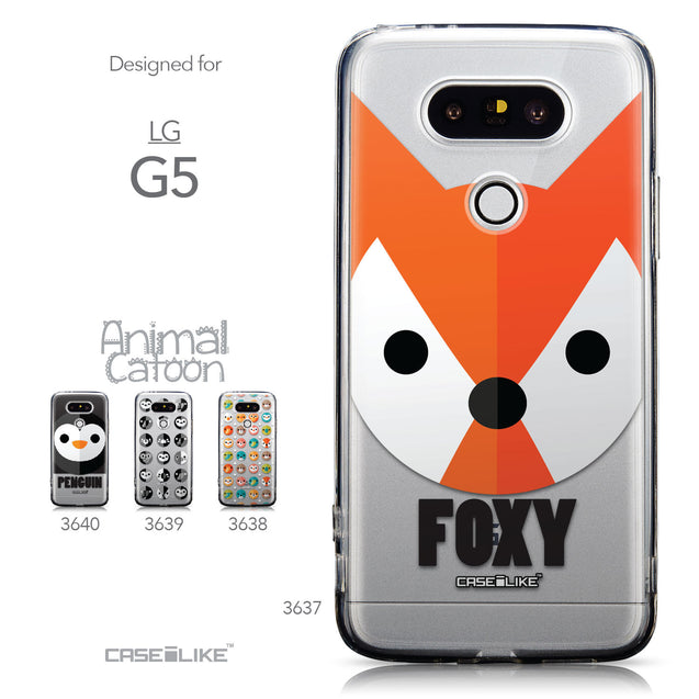 Collection - CASEiLIKE LG G5 back cover Animal Cartoon 3637