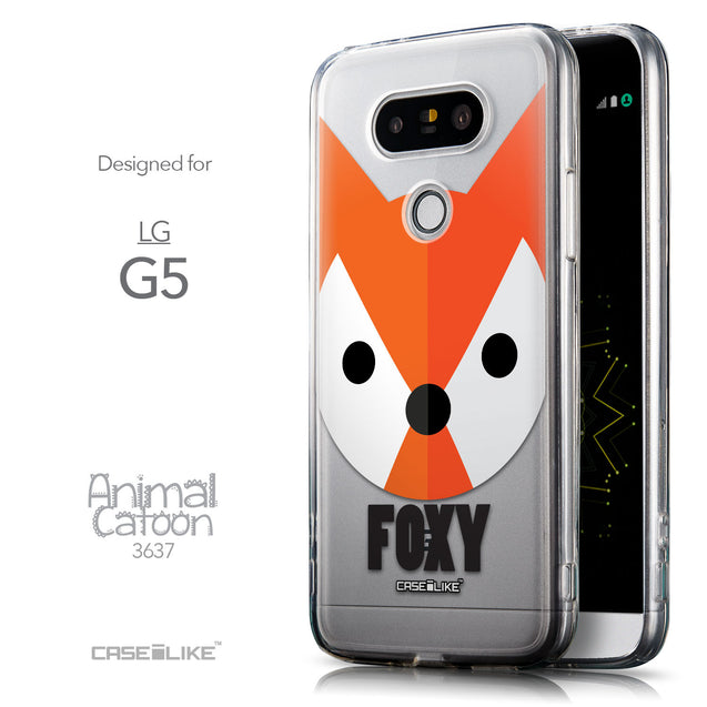 Front & Side View - CASEiLIKE LG G5 back cover Animal Cartoon 3637