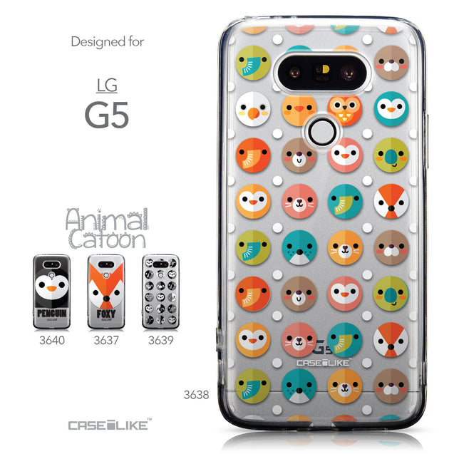 Collection - CASEiLIKE LG G5 back cover Animal Cartoon 3638