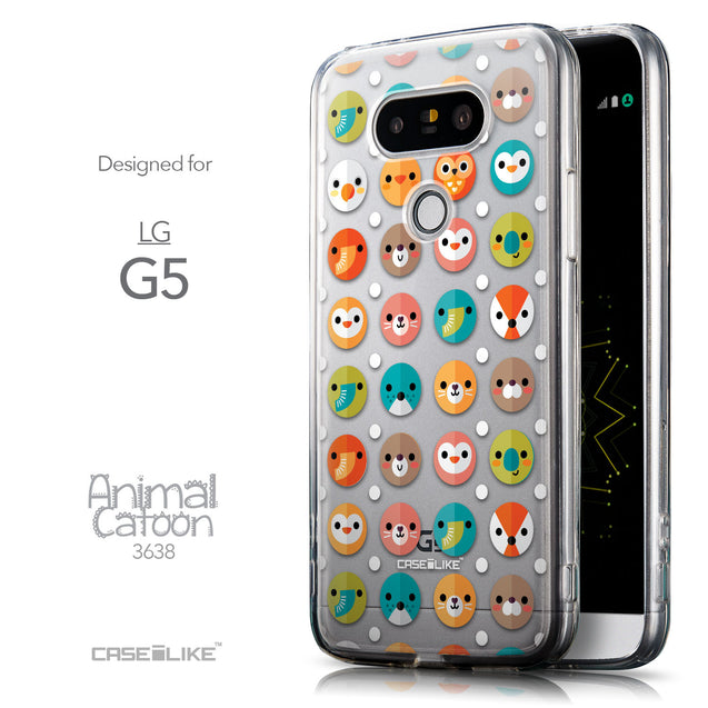 Front & Side View - CASEiLIKE LG G5 back cover Animal Cartoon 3638
