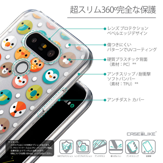 Details in Japanese - CASEiLIKE LG G5 back cover Animal Cartoon 3638
