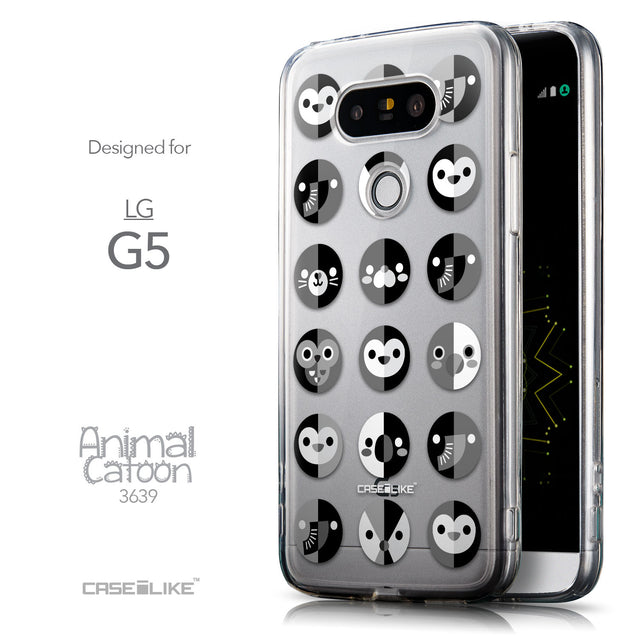 Front & Side View - CASEiLIKE LG G5 back cover Animal Cartoon 3639