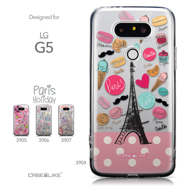 Collection - CASEiLIKE LG G5 back cover Paris Holiday 3904