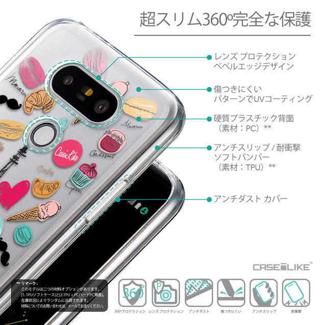 Details in Japanese - CASEiLIKE LG G5 back cover Paris Holiday 3904