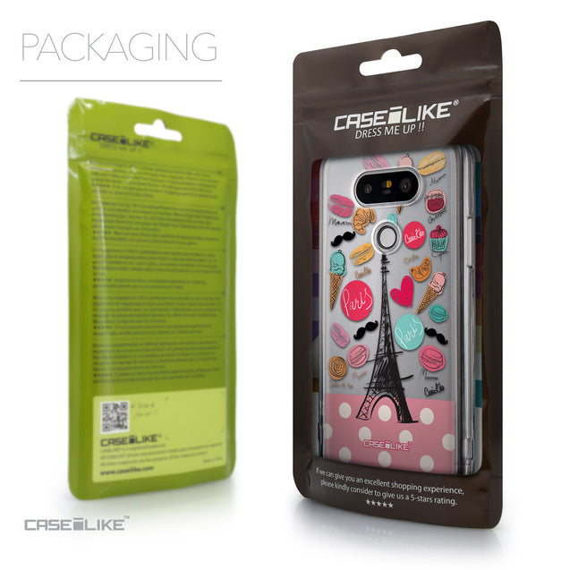 Packaging - CASEiLIKE LG G5 back cover Paris Holiday 3904