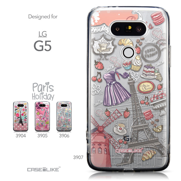 Collection - CASEiLIKE LG G5 back cover Paris Holiday 3907