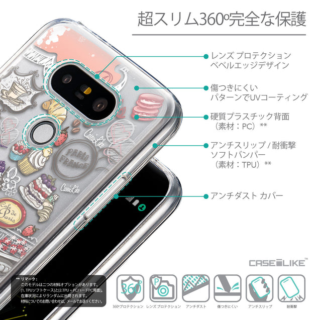 Details in Japanese - CASEiLIKE LG G5 back cover Paris Holiday 3907