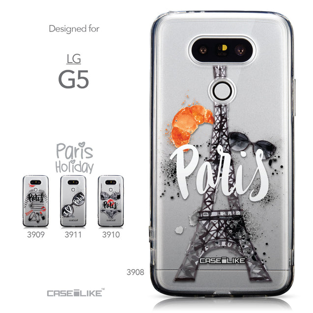 Collection - CASEiLIKE LG G5 back cover Paris Holiday 3908