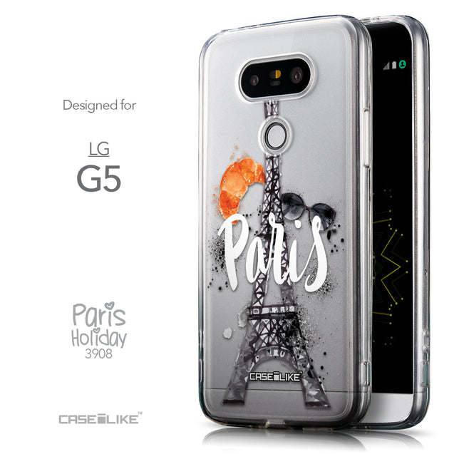 Front & Side View - CASEiLIKE LG G5 back cover Paris Holiday 3908