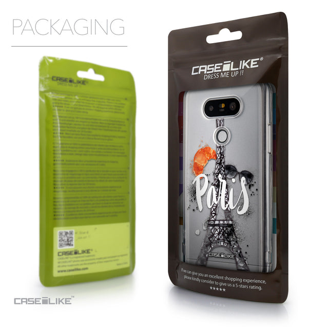 Packaging - CASEiLIKE LG G5 back cover Paris Holiday 3908