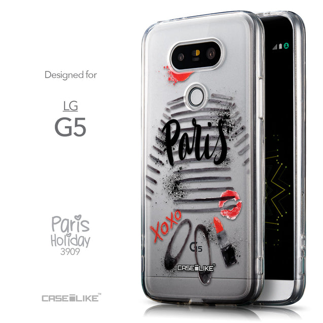 Front & Side View - CASEiLIKE LG G5 back cover Paris Holiday 3909