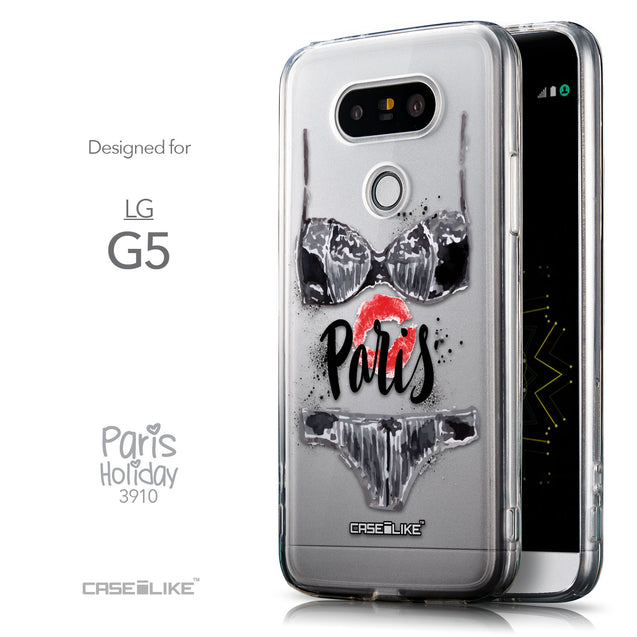 Front & Side View - CASEiLIKE LG G5 back cover Paris Holiday 3910