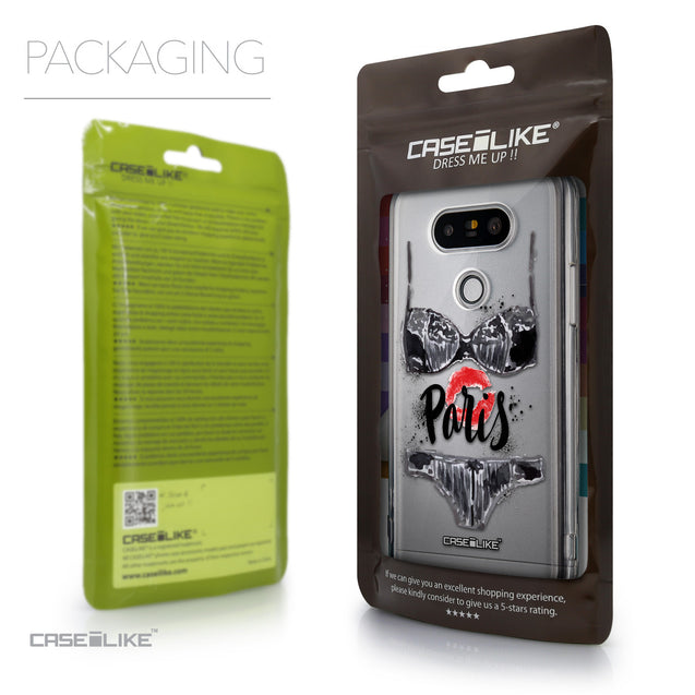 Packaging - CASEiLIKE LG G5 back cover Paris Holiday 3910