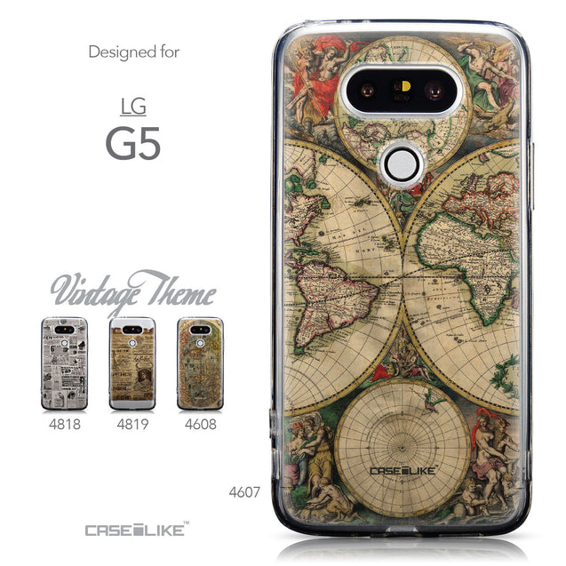 Collection - CASEiLIKE LG G5 back cover World Map Vintage 4607