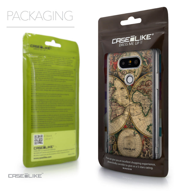 Packaging - CASEiLIKE LG G5 back cover World Map Vintage 4607