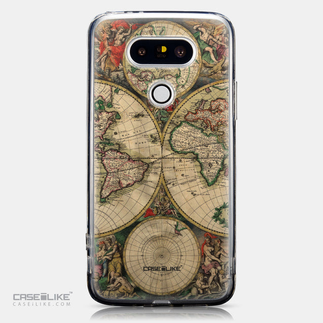 CASEiLIKE LG G5 back cover World Map Vintage 4607