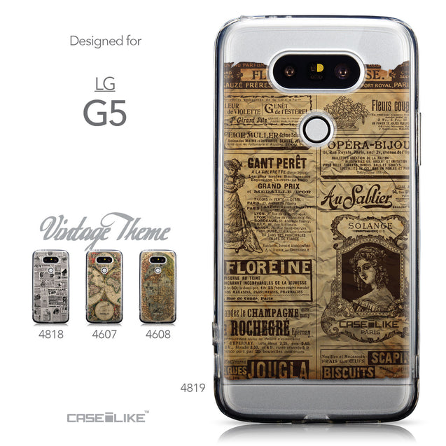 Collection - CASEiLIKE LG G5 back cover Vintage Newspaper Advertising 4819