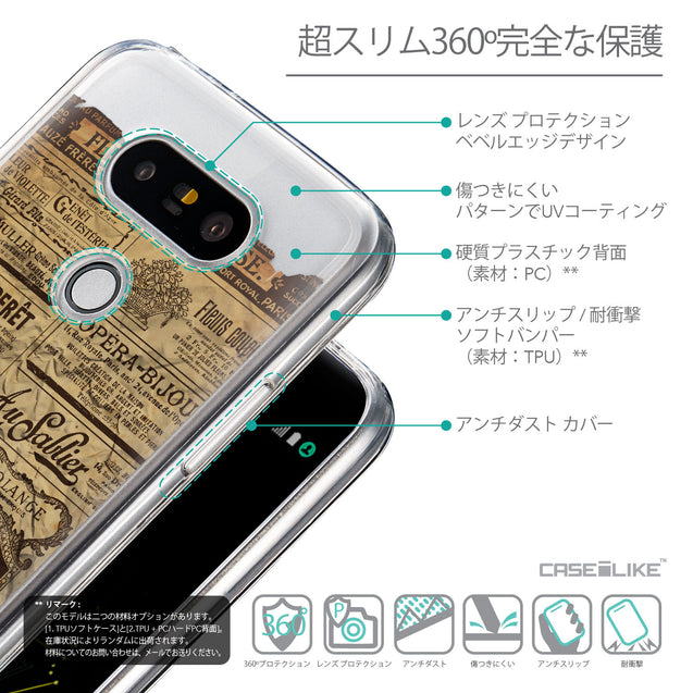Details in Japanese - CASEiLIKE LG G5 back cover Vintage Newspaper Advertising 4819