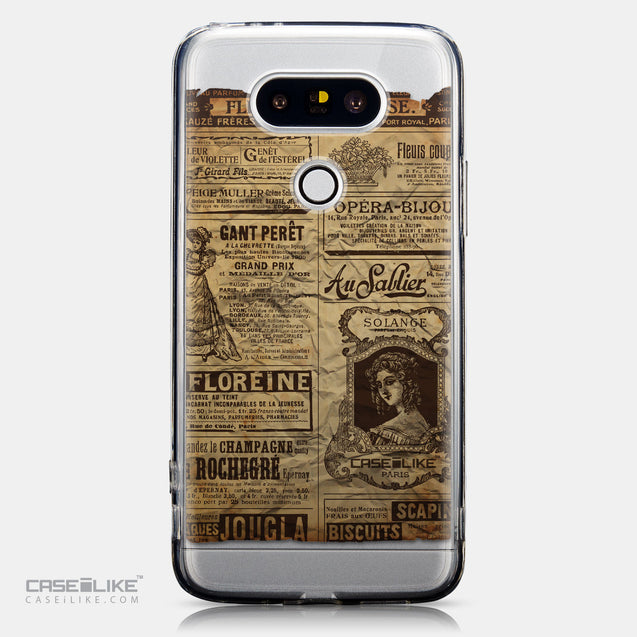 CASEiLIKE LG G5 back cover Vintage Newspaper Advertising 4819