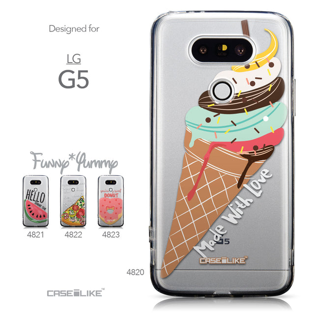 Collection - CASEiLIKE LG G5 back cover Ice Cream 4820