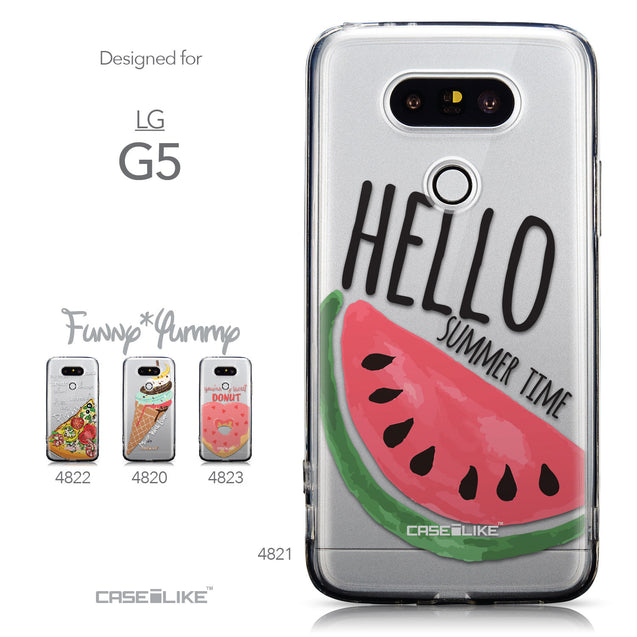 Collection - CASEiLIKE LG G5 back cover Water Melon 4821