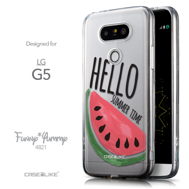 Front & Side View - CASEiLIKE LG G5 back cover Water Melon 4821