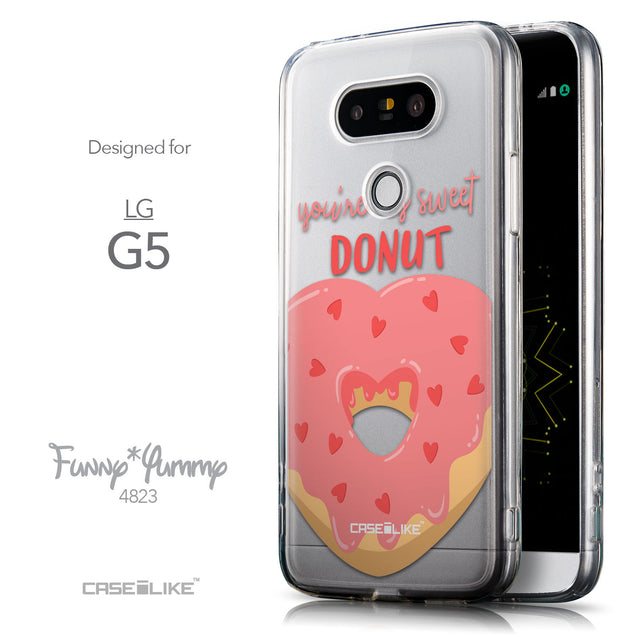 Front & Side View - CASEiLIKE LG G5 back cover Dounuts 4823