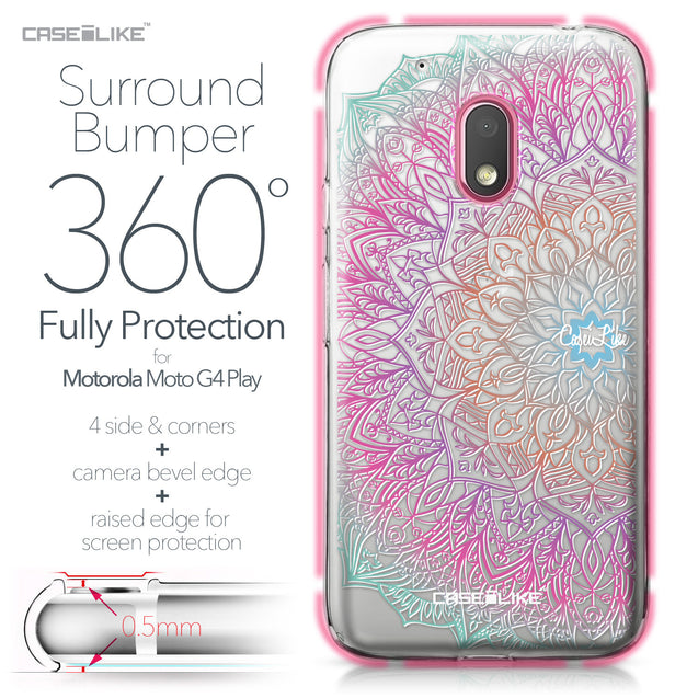 Motorola Moto G4 Play case Mandala Art 2090 Bumper Case Protection | CASEiLIKE.com