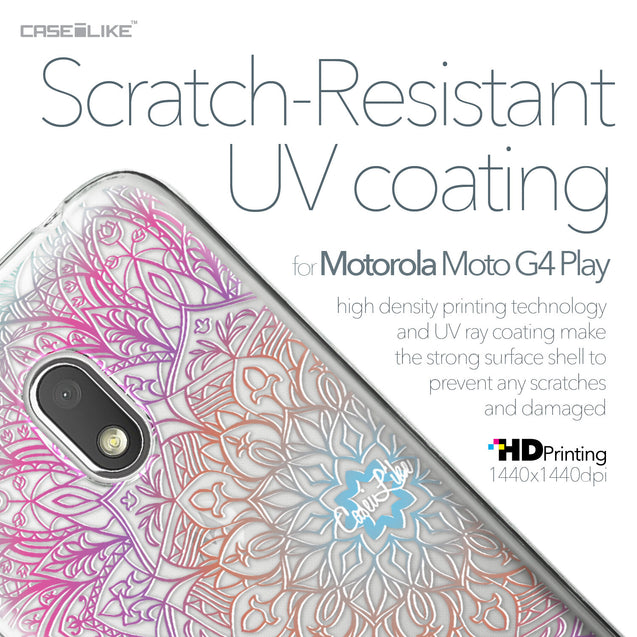 Motorola Moto G4 Play case Mandala Art 2090 with UV-Coating Scratch-Resistant Case | CASEiLIKE.com
