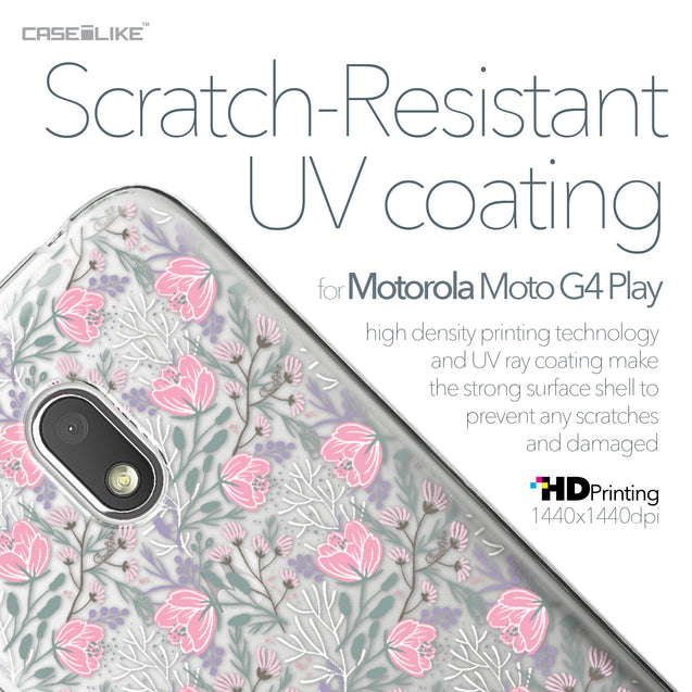 Motorola Moto G4 Play case Flowers Herbs 2246 with UV-Coating Scratch-Resistant Case | CASEiLIKE.com