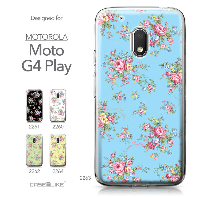 Motorola Moto G4 Play case Floral Rose Classic 2263 Collection | CASEiLIKE.com