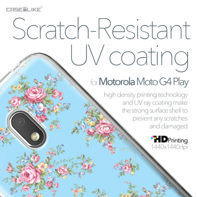 Motorola Moto G4 Play case Floral Rose Classic 2263 with UV-Coating Scratch-Resistant Case | CASEiLIKE.com