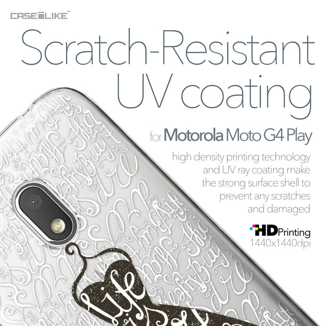 Motorola Moto G4 Play case Quote 2404 with UV-Coating Scratch-Resistant Case | CASEiLIKE.com
