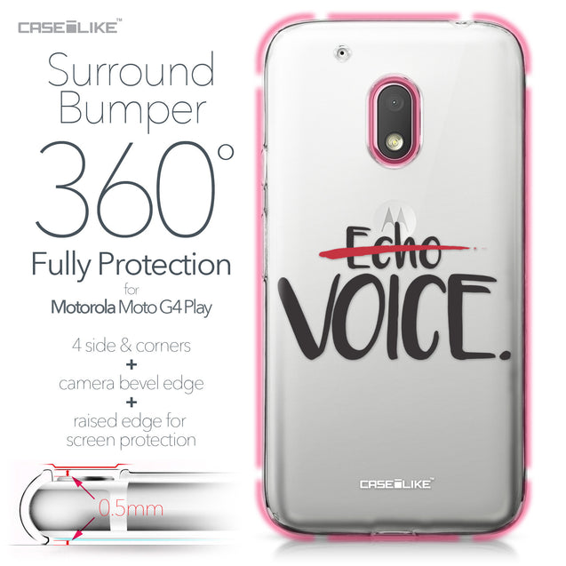 Motorola Moto G4 Play case Quote 2405 Bumper Case Protection | CASEiLIKE.com