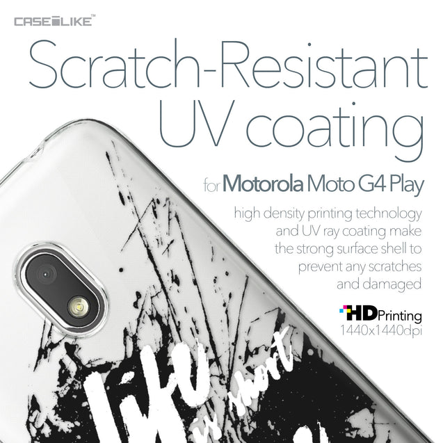Motorola Moto G4 Play case Quote 2416 with UV-Coating Scratch-Resistant Case | CASEiLIKE.com