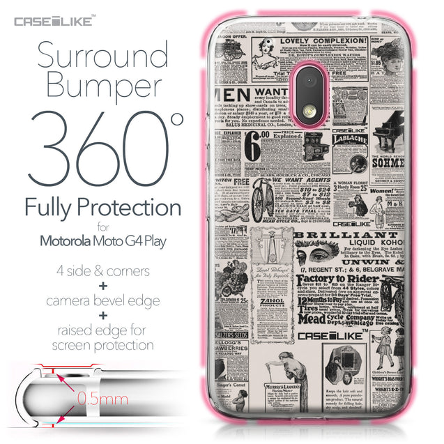 Motorola Moto G4 Play case Vintage Newspaper Advertising 4818 Bumper Case Protection | CASEiLIKE.com
