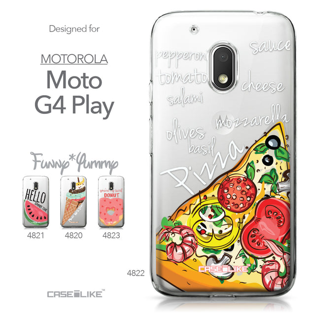 Motorola Moto G4 Play case Pizza 4822 Collection | CASEiLIKE.com