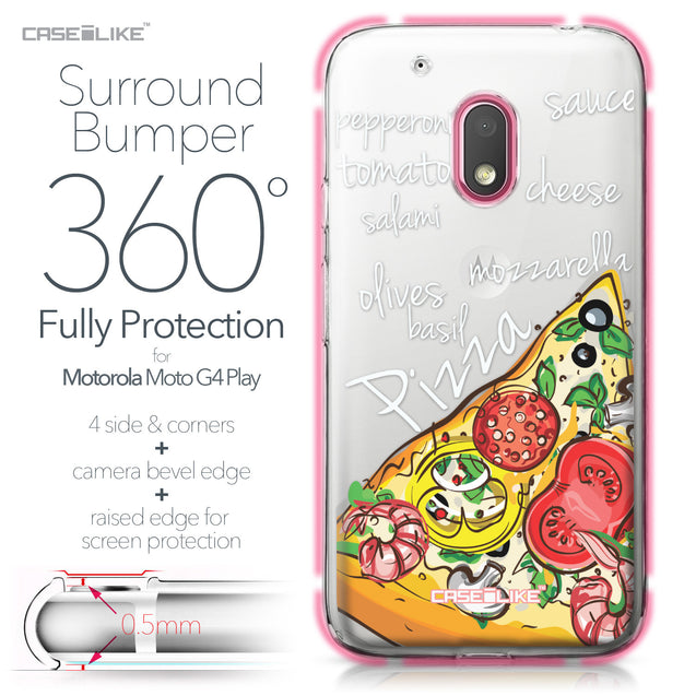 Motorola Moto G4 Play case Pizza 4822 Bumper Case Protection | CASEiLIKE.com