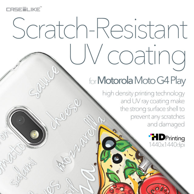 Motorola Moto G4 Play case Pizza 4822 with UV-Coating Scratch-Resistant Case | CASEiLIKE.com