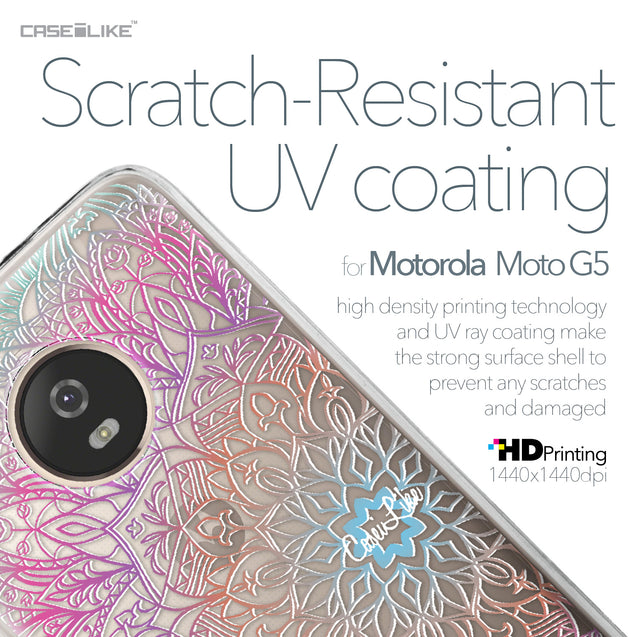 Motorola Moto G5 case Mandala Art 2090 with UV-Coating Scratch-Resistant Case | CASEiLIKE.com