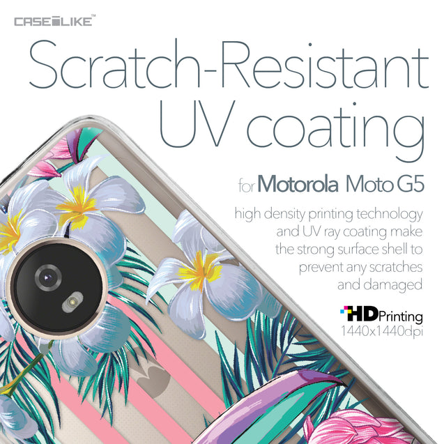 Motorola Moto G5 case Tropical Floral 2240 with UV-Coating Scratch-Resistant Case | CASEiLIKE.com