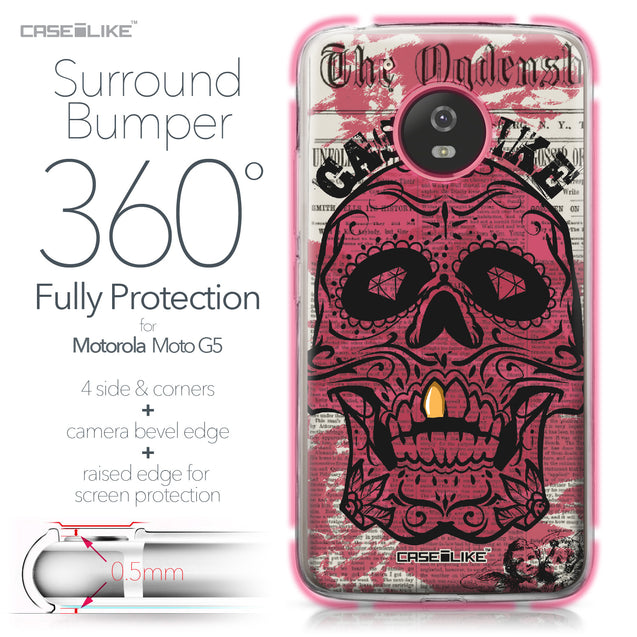 Motorola Moto G5 case Art of Skull 2523 Bumper Case Protection | CASEiLIKE.com