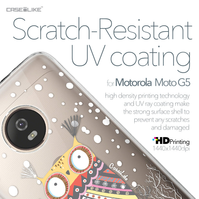 Motorola Moto G5 case Owl Graphic Design 3317 with UV-Coating Scratch-Resistant Case | CASEiLIKE.com