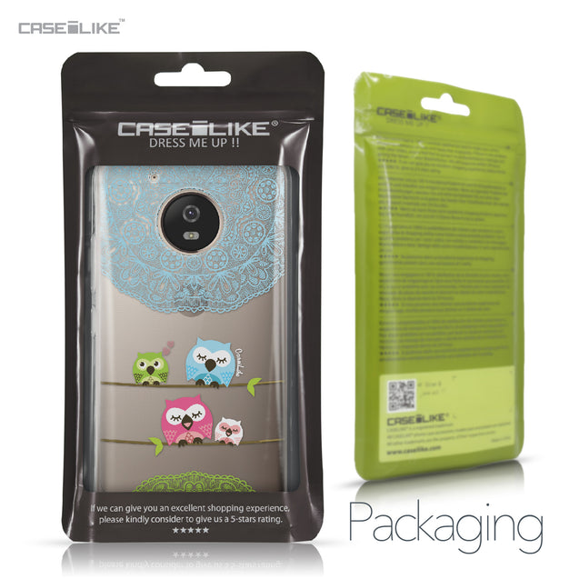 Motorola Moto G5 case Owl Graphic Design 3318 Retail Packaging | CASEiLIKE.com
