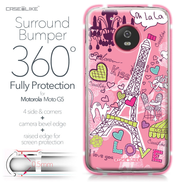 Motorola Moto G5 case Paris Holiday 3905 Bumper Case Protection | CASEiLIKE.com