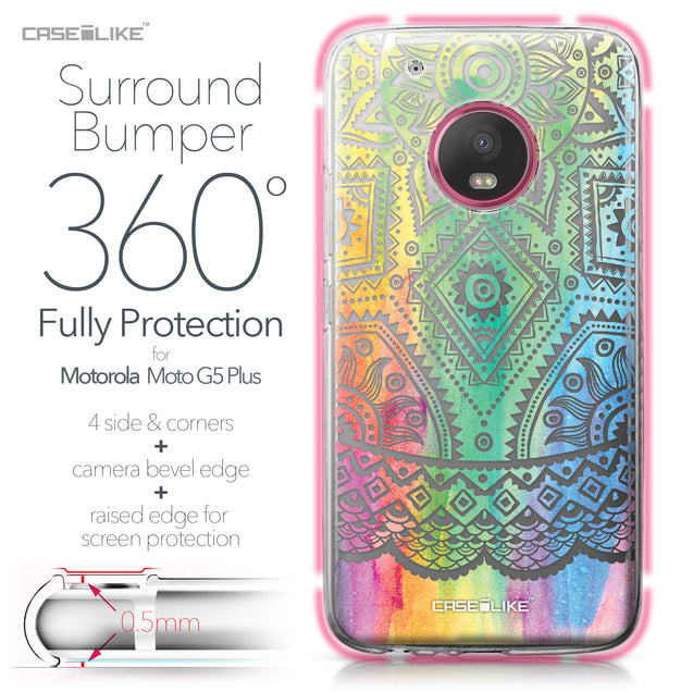 Motorola Moto G5 Plus case Indian Line Art 2064 Bumper Case Protection | CASEiLIKE.com