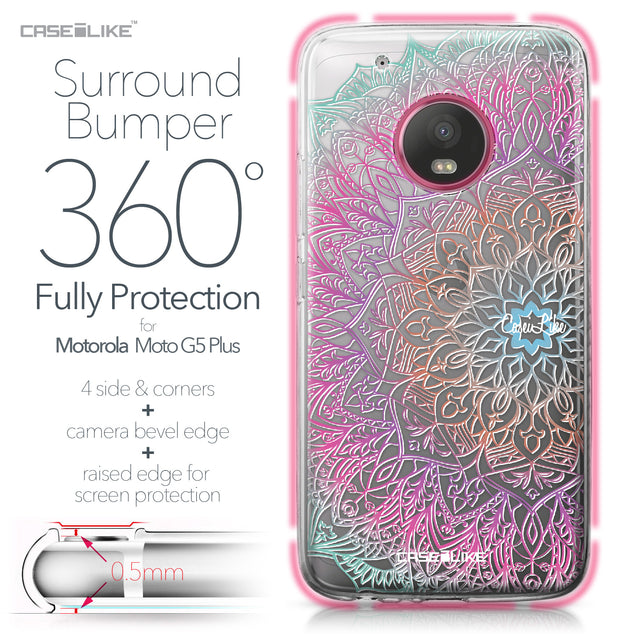 Motorola Moto G5 Plus case Mandala Art 2090 Bumper Case Protection | CASEiLIKE.com
