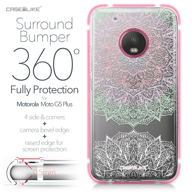 Motorola Moto G5 Plus case Mandala Art 2092 Bumper Case Protection | CASEiLIKE.com
