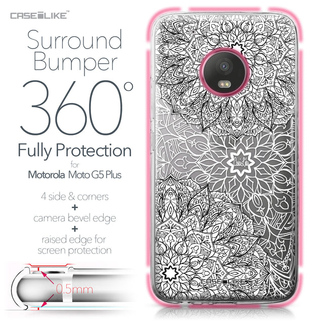 Motorola Moto G5 Plus case Mandala Art 2093 Bumper Case Protection | CASEiLIKE.com